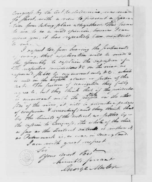 George Muter to James Madison, September 23, 1786.