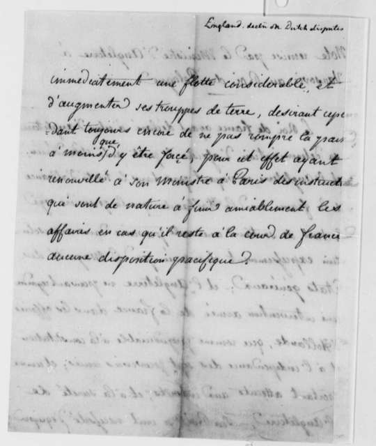 Great Britain to Stanislas II, King of Poland, December 1786, Declaration on Disputes with Holland