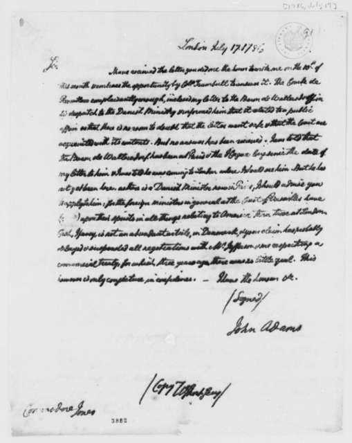 John Adams to John Paul Jones, July 17, 1786