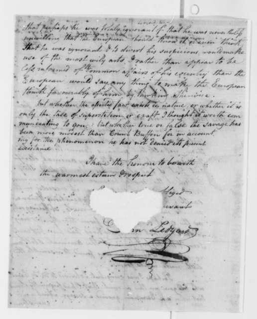 John Ledyard to Thomas Jefferson, February 7, 1786