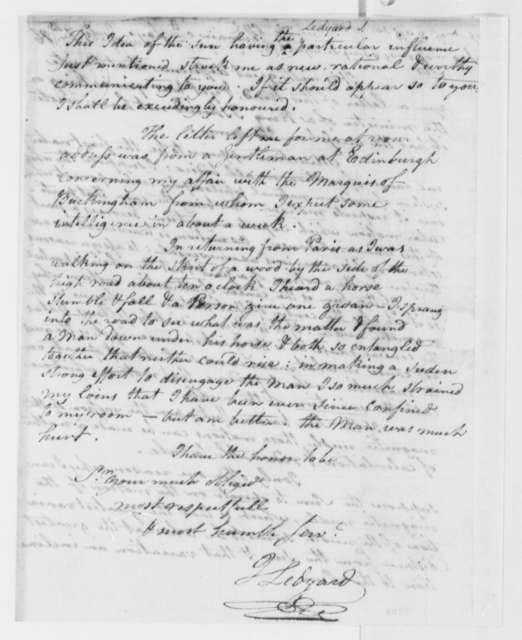 John Ledyard to Thomas Jefferson, July 7, 1786