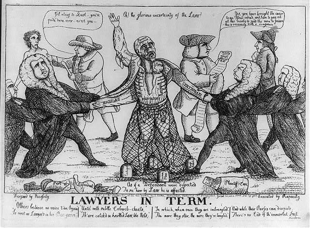 Lawyers in term / designed by Necessity ; executed by Rapacity.