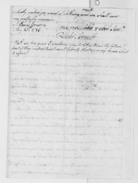 Lister Asquith to Thomas Jefferson, May 15, 1786, William & Catherine (ship)