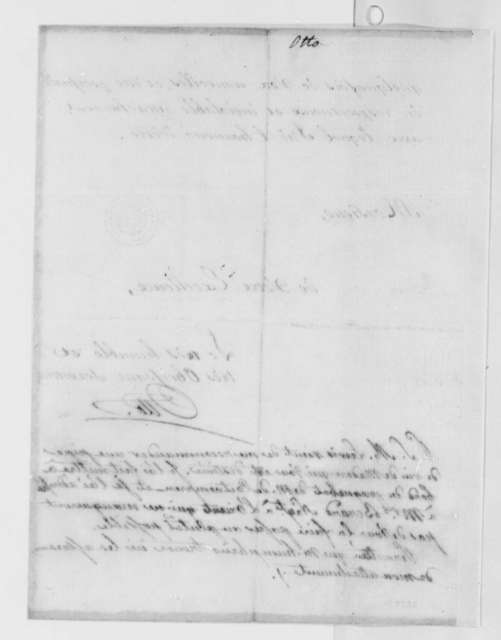 Louis Guillaume Otto to Thomas Jefferson, May 10, 1786, in French