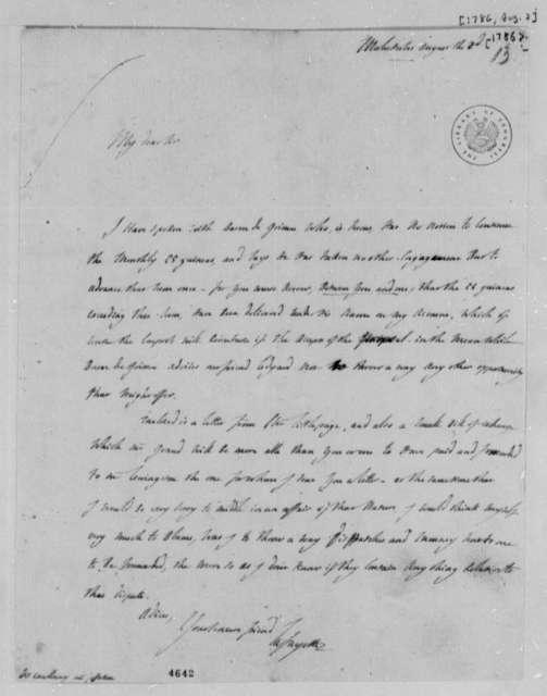 Marie Joseph Paul Yves Roch Gilbert du Motier, Marquis de Lafayette to Thomas Jefferson, August 2, 1786