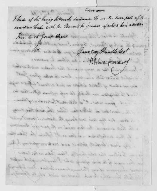 Michel Guillaume Jean de Crevecoeur (John Hector St. John) to Thomas Jefferson, December 16, 1786