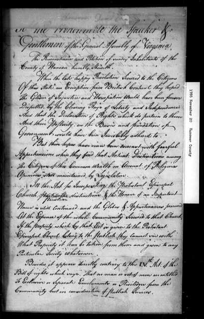 November 20, 1786, Hanover, Opposed to incorporation act.
