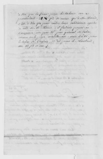 Robert Morris, February 1786, Tobacco Shipment; with Bill of Lading