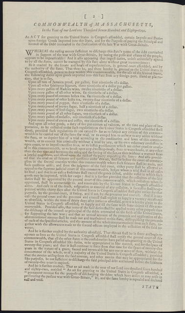State of New-Hampshire, in the year of our Lord one thousand seven hundred and eighty-four : An act for granting to the United States in Congress assembled, certain impost and duties upon foreign goods imported into this state ...