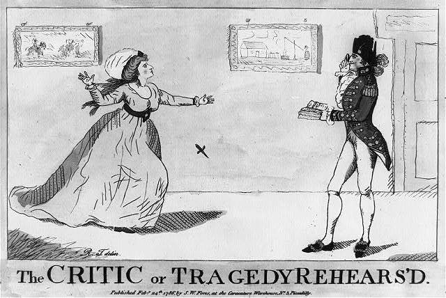 The critic or Tragedy rehears'd / R. T., delin.