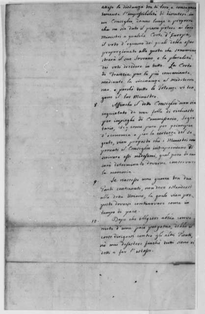 Thomas Barclay, July 1786, Peace Treaty Between Barbary States and the United States; in Italian and French (two versions)