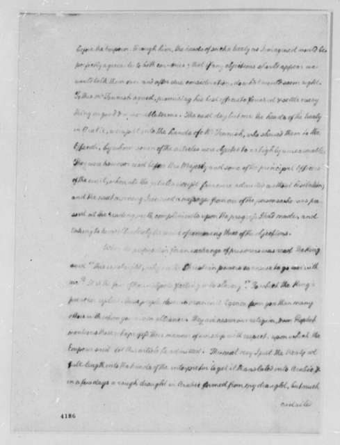 Thomas Barclay to American Peace Commissioners, September 18, 1786, Proceedings Relating to the Peace Treaty Between Morocco and the United States