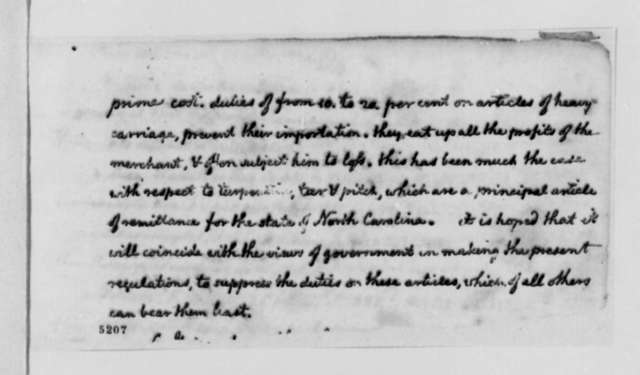 Thomas Jefferson, July 3, 1786, Observations on Charles Alexandre de Calonne's Letter of October 22, 1786, on Trade Between the United States and France; with Two Copies