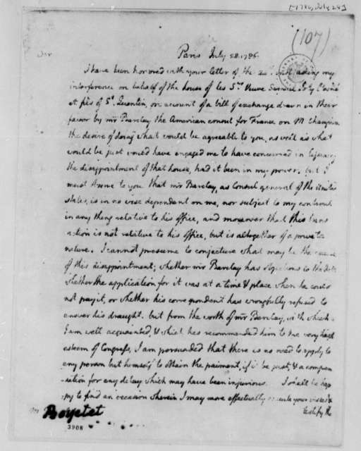 Thomas Jefferson to Boyetet, July 28, 1786