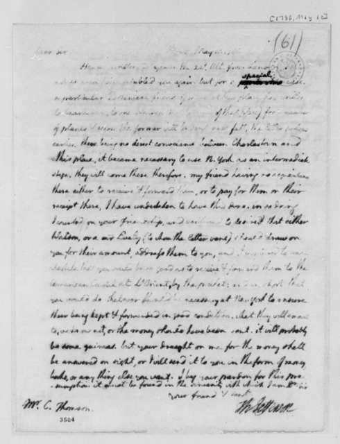Thomas Jefferson to Charles Thomson, May 10, 1786