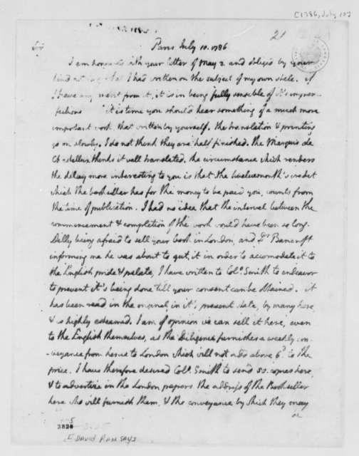 Thomas Jefferson to David Ramsay, July 10, 1786