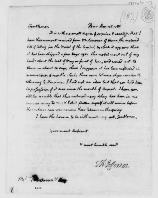 Thomas Jefferson to James Buchanan and William Hay, December 26, 1786