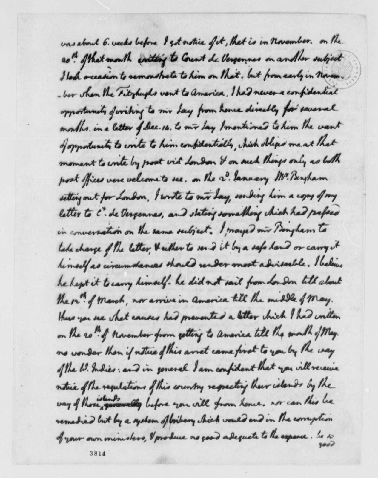 Thomas Jefferson to James Monroe, July 9, 1786