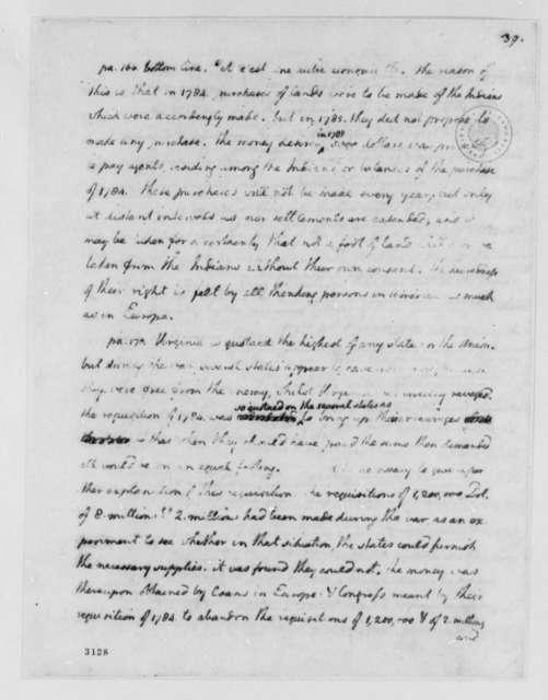 Thomas Jefferson to Jean Nicholas Demeunier, January 24, 1786