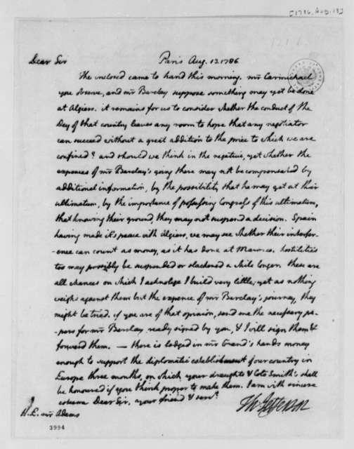 Thomas Jefferson to John Adams, August 13, 1786