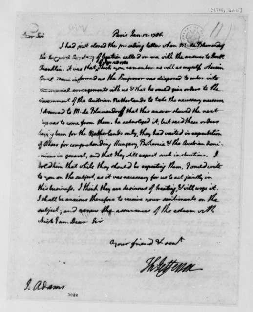 Thomas Jefferson to John Adams, January 12, 1786