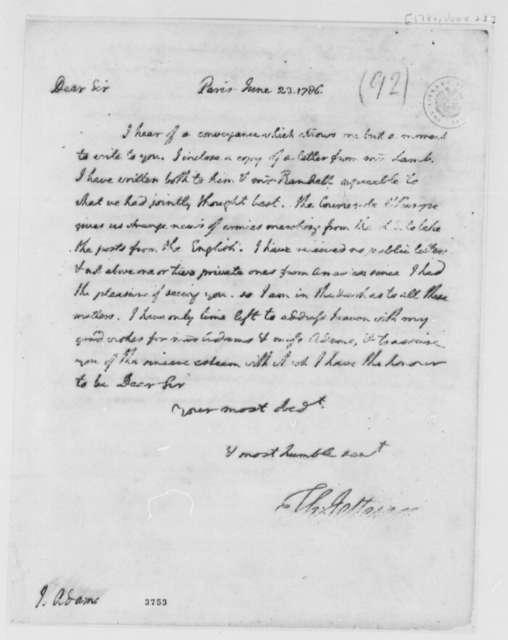 Thomas Jefferson to John Adams, June 23, 1786