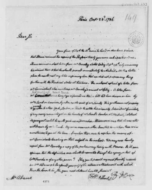 Thomas Jefferson to John Adams, October 23, 1786