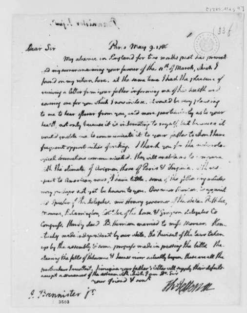 Thomas Jefferson to John Banister Jr., May 9, 1786