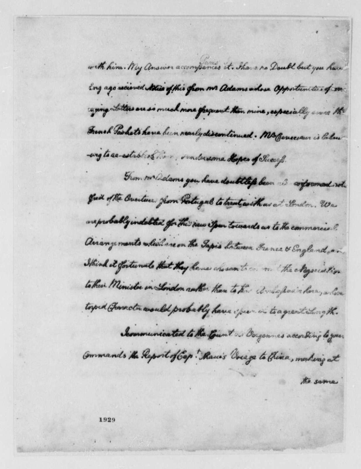 Thomas Jefferson to John Jay, January 2, 1786
