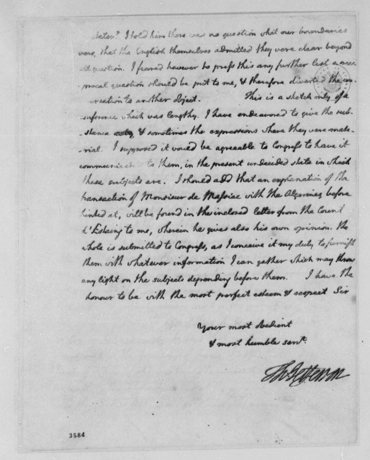 Thomas Jefferson to John Jay, May 23, 1786