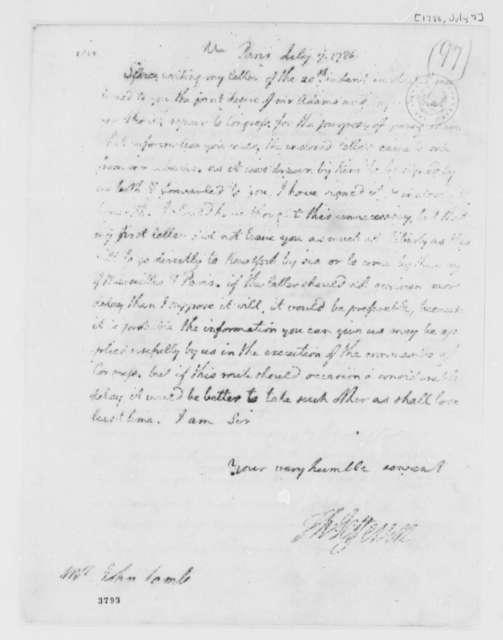Thomas Jefferson to John Lamb, July 7, 1786