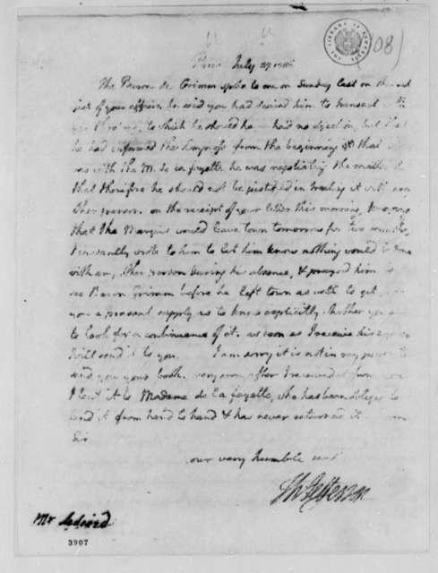 Thomas Jefferson to John Ledyard, July 27, 1786