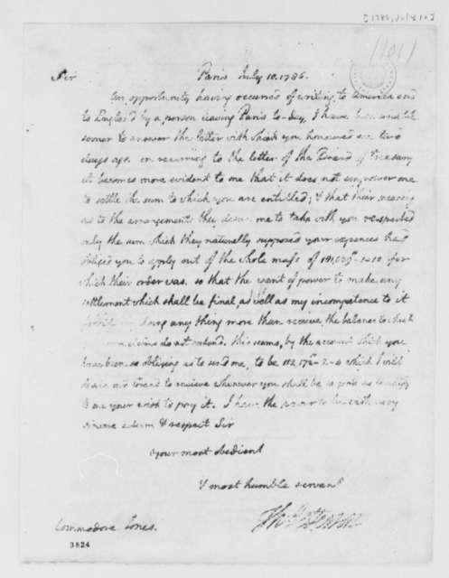 Thomas Jefferson to John Paul Jones, July 10, 1786