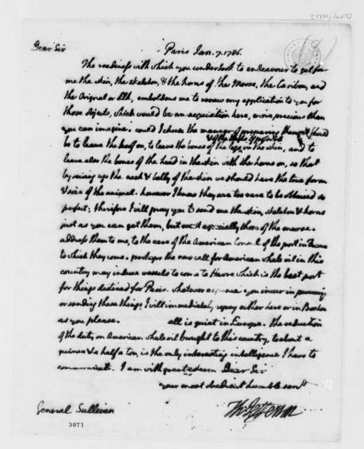 Thomas Jefferson to John Sullivan, January 7, 1786