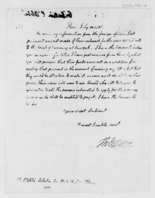 Thomas Jefferson to L'Abbe Gibelin, July 10, 1786