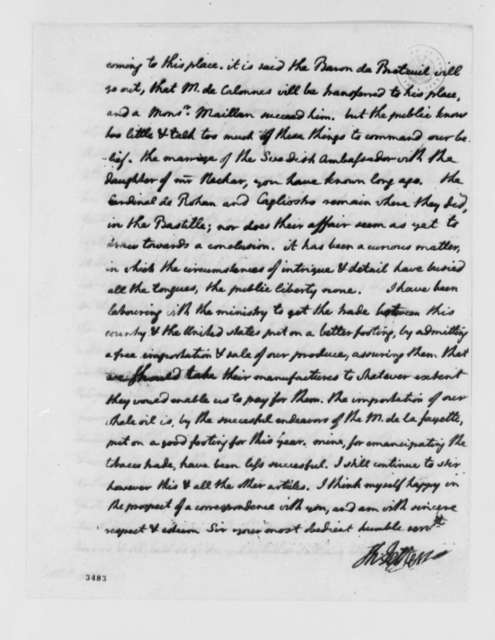 Thomas Jefferson to Louis Guillaume Otto, May 7, 1786