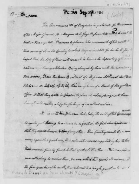 Thomas Jefferson to Louis le Pelletier, September 27, 1786