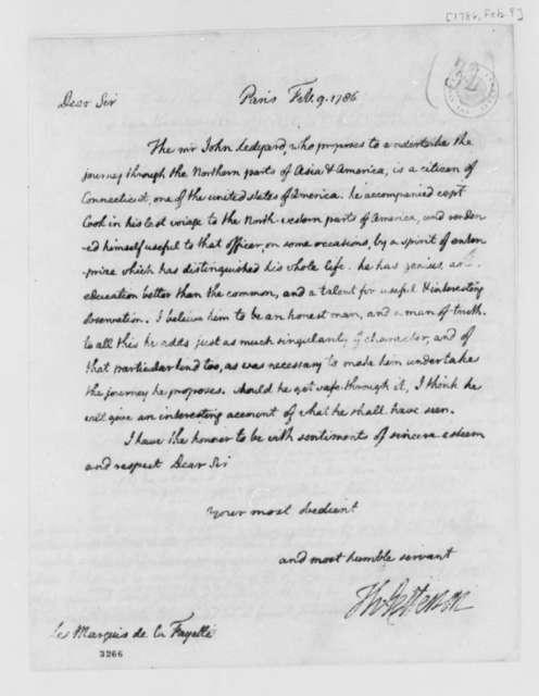 Thomas Jefferson to Marie Joseph Paul Yves Roch Gilbert du Motier, Marquis de Lafayette, February 9, 1786