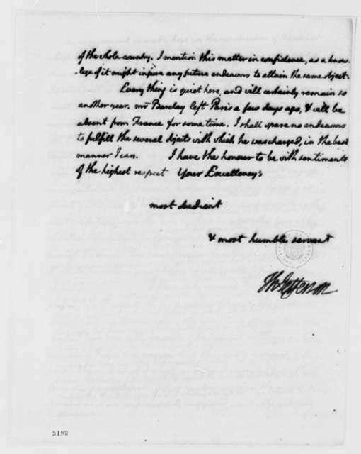 Thomas Jefferson to Patrick Henry, January 24, 1786