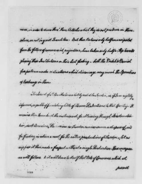 Thomas Jefferson to Stael de Holstein, June 12, 1786, St. Bartholomew Island; with Copy