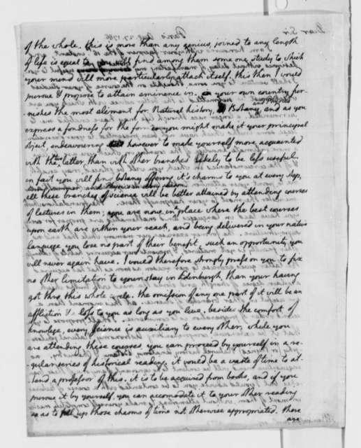 Thomas Jefferson to Thomas Mann Randolph Jr., August 27, 1786, with Copy
