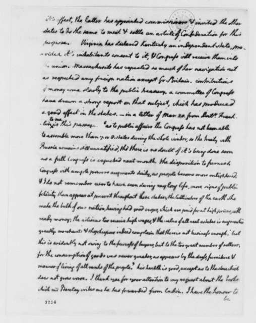 Thomas Jefferson to William Carmichael, June 20, 1786