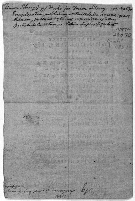 To relieve the distressed ... John Collins, Esq; Governor ... Daniel Owens, Esq; Deputy Governor ... Delegates to represent the State in Congress ... [Providence? 1786].