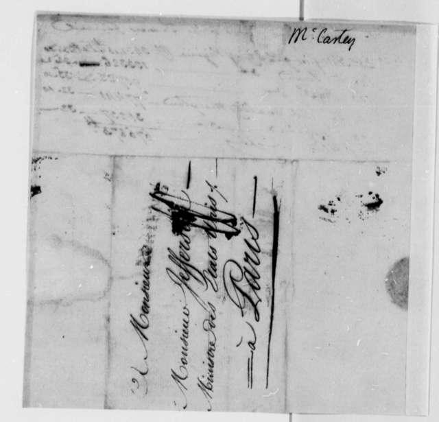 William Macarty to Thomas Jefferson, August 7, 1786