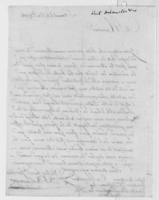 Wilt, Delmestre & Company to Thomas Jefferson, December 6, 1786, in French
