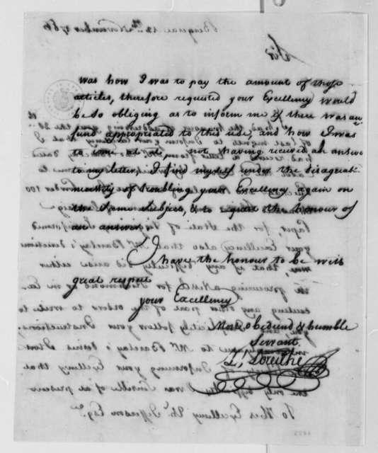 Zachariah Loreilhe to Thomas Jefferson, November 12, 1786