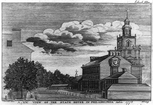 A N.W. view of the state house in Philadelphia taken 1778 / C.W. Peale delin. ; J.T. sculp.
