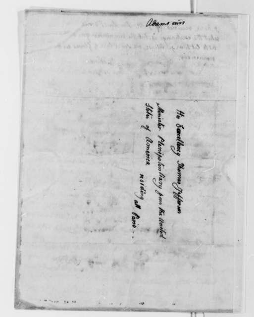 Abigail Smith Adams to Thomas Jefferson, July 10, 1787