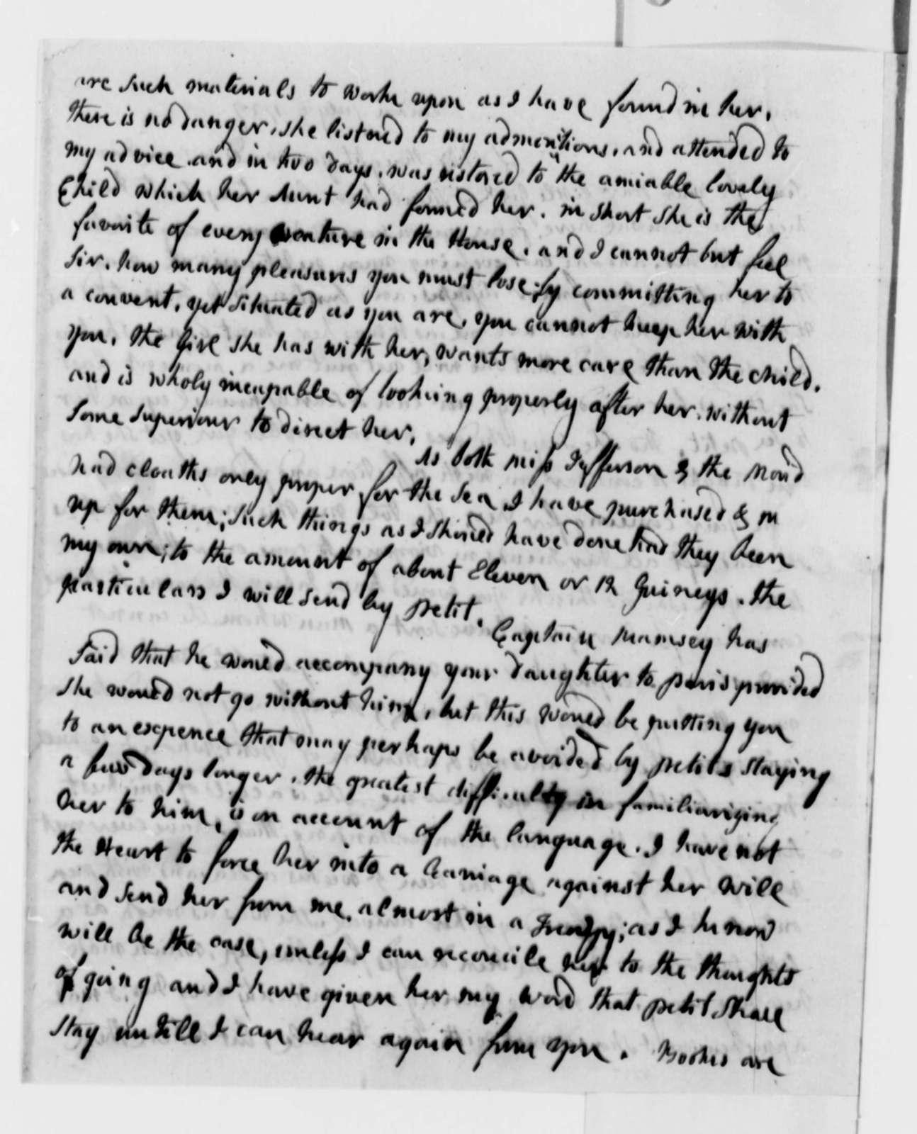 Abigail Smith Adams to Thomas Jefferson, July 6, 1787