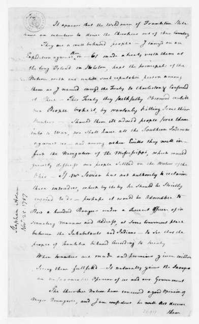 Adam Stephen to James Madison, November 25, 1787.